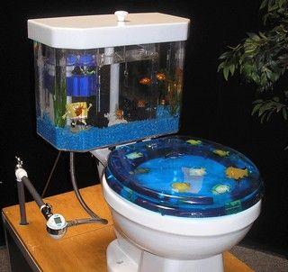 Toilet Fish Tank Kitsch Bitsch Pinterest