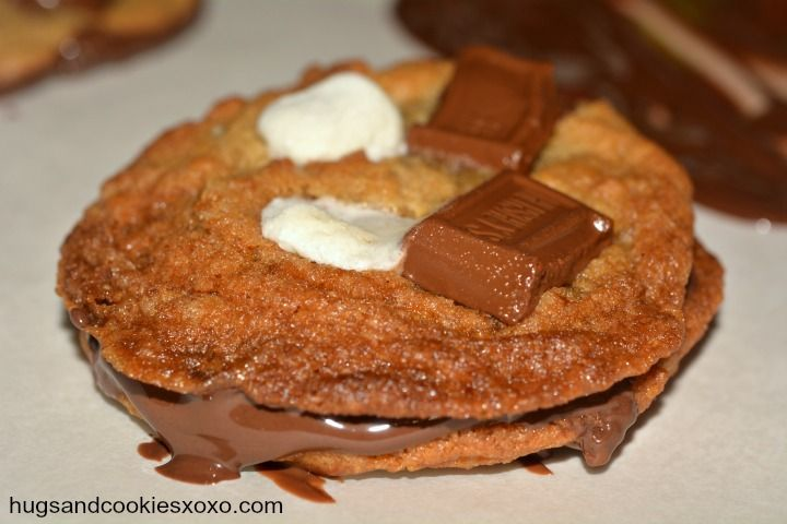 This cookie base is prepared with graham cracker crumbs for a true s ...