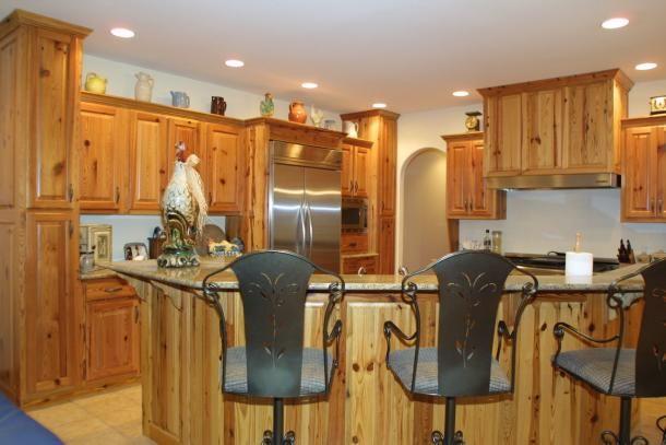 Rustic pine kitchen cabinets  new kitchen ideas  Pinterest