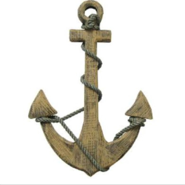 Wooden wall decor anchor anchor lovin 39 pinterest for Anchor wall decoration