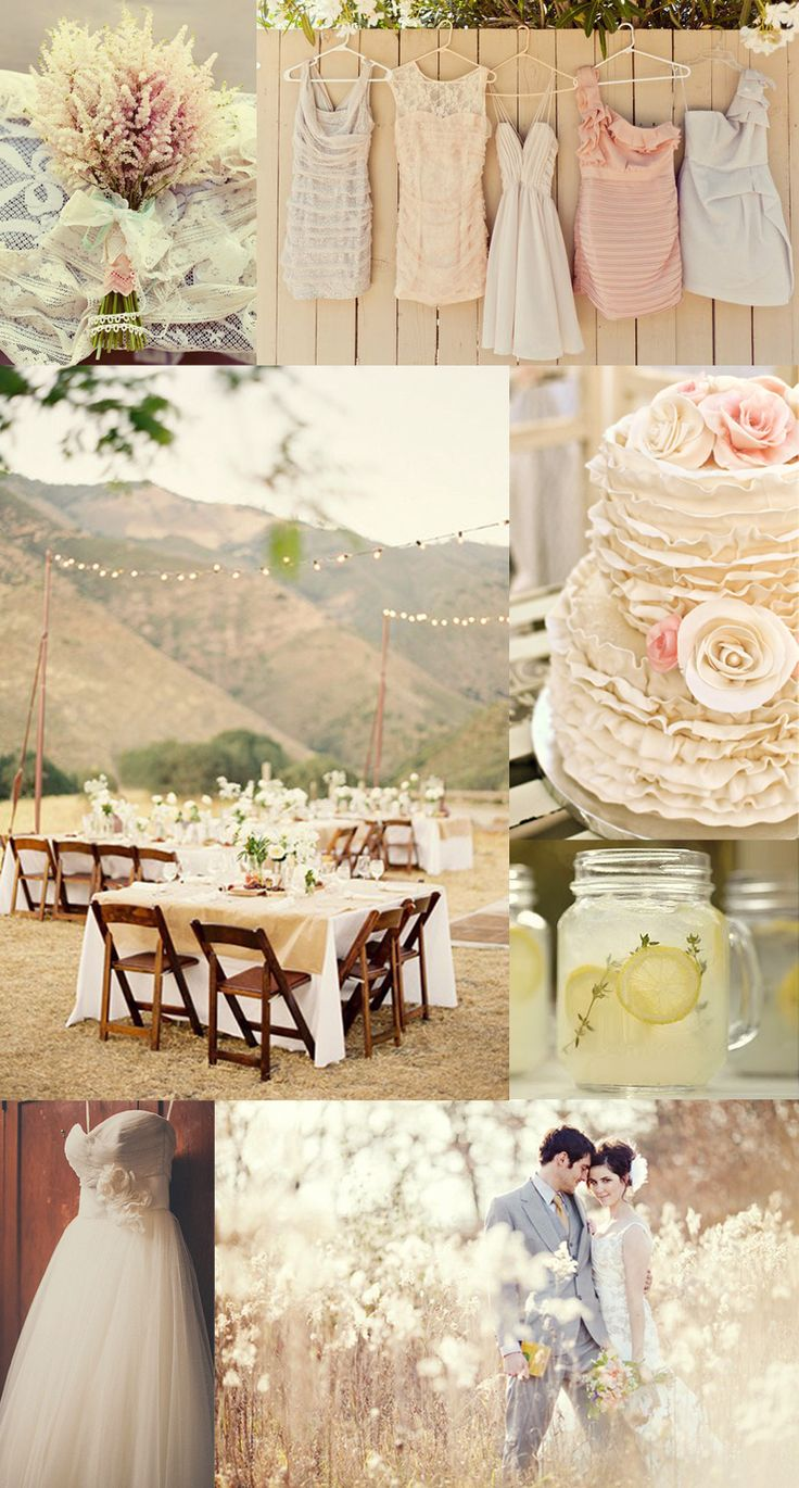 These soft, muted colors would look magical in a barn with candlelight.