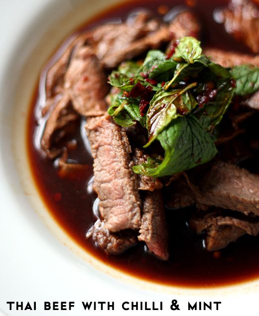 Thai beef with chili and mint | Meat | Pinterest