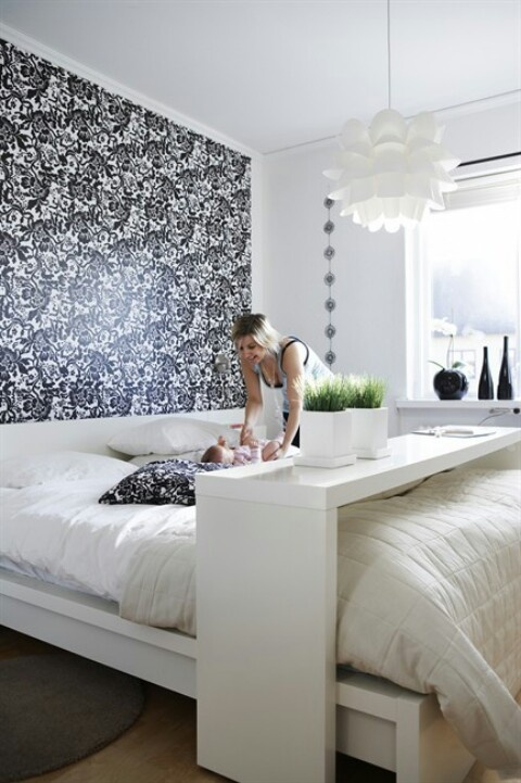 An Overbed Rolling Table Ikea Malm Dream Home Pinterest