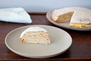 Cannoli Crepe Cake with Orange Puree | Recipes/Food/Drinks | Pinterest