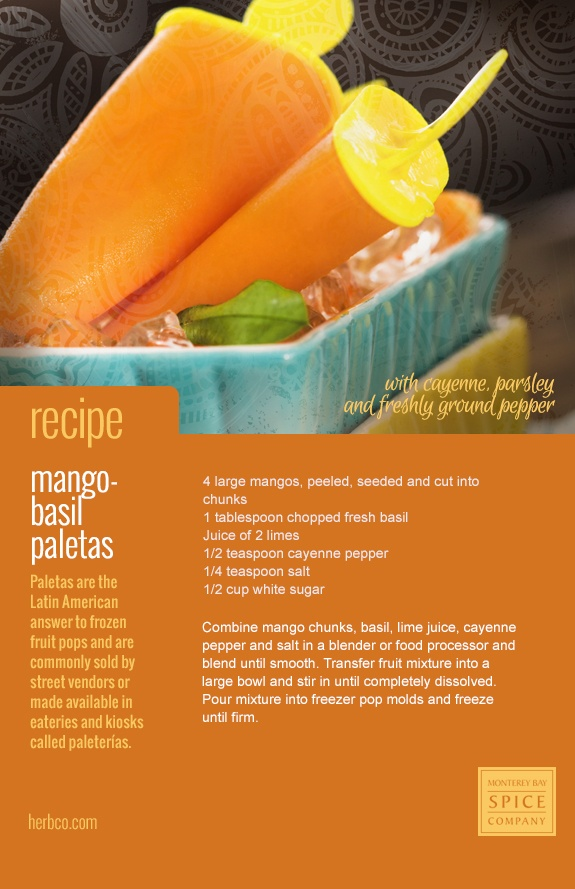 Mango And Cayenne Paletas Recipes — Dishmaps