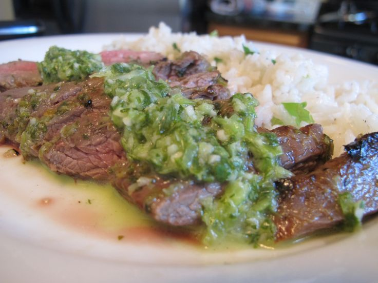 cilantro lime marinated flank steak with scallion rice - a flavorful ...