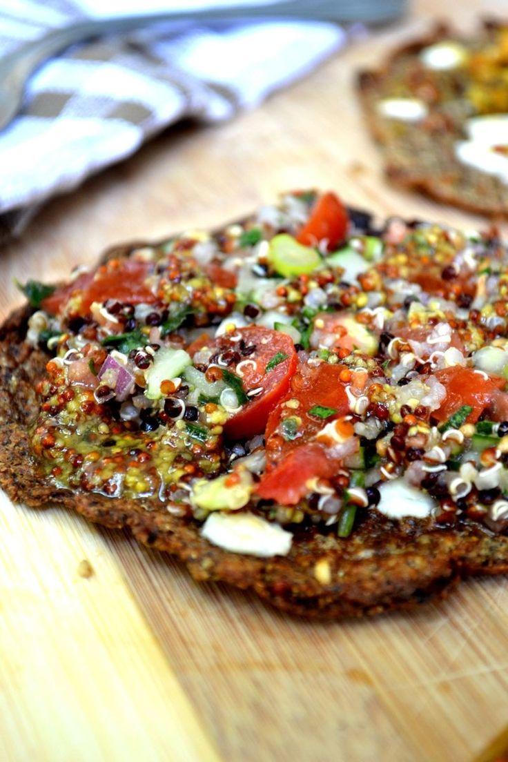 Quinoa and brown rice flatbread | Vegetarian & Vegan Nomz | Pinterest
