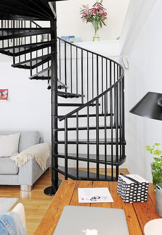 Best Black Metal Spiral Stairs Black Board Pinterest 640 x 480