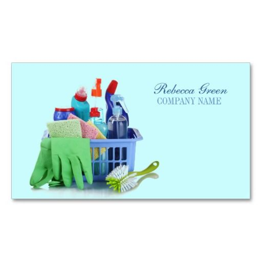 Cleaning services business cards examples