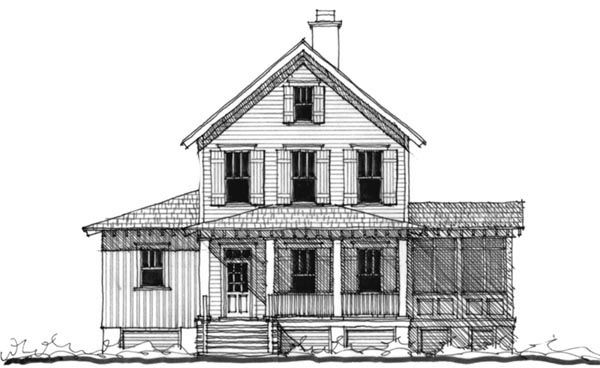 Historic Southern House Plan 73720