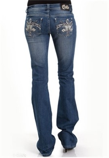Meet the White Leather Stud Bootcut Jean from my new favorite brand, Cello Jeans! #denimlust #gliks