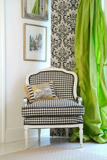 www.eyefordesignlfd.blogspot.com: Decorating With Houndstooth