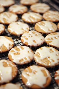 Lemon-glazed candied ginger #cookies | Recipes | Pinterest