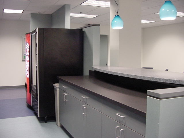 Cabinets commercial office break room designs pinterest for Small office kitchen ideas