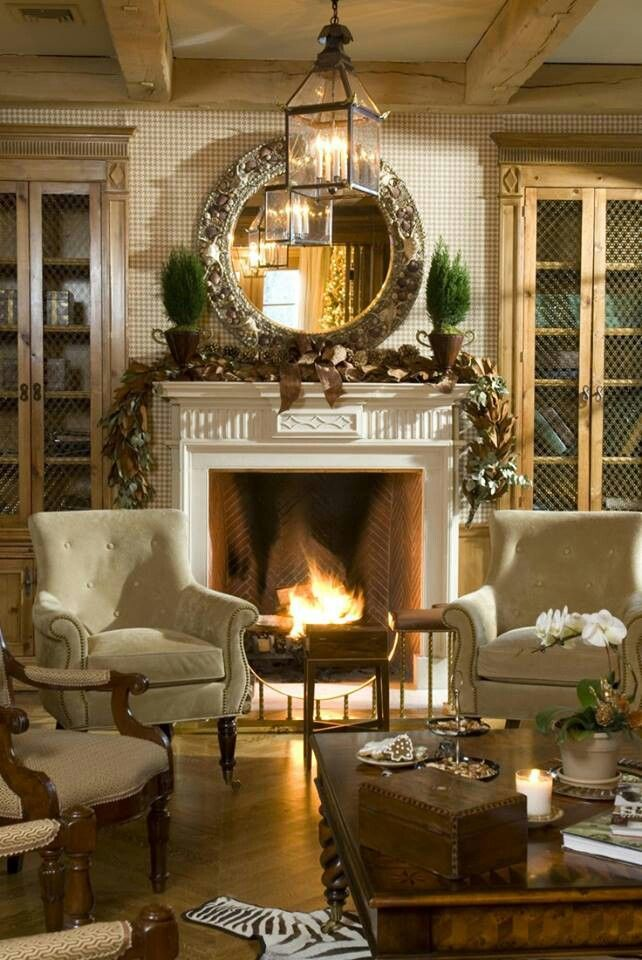 Cozy fireplace in living room elegant pinterest Pinterest everything home decor