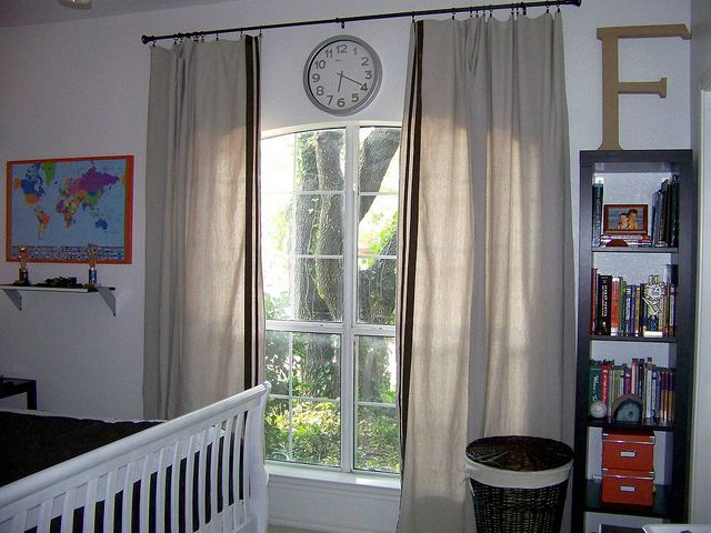 ... drop clothes make the perfect masculine curtains. Nice and long too