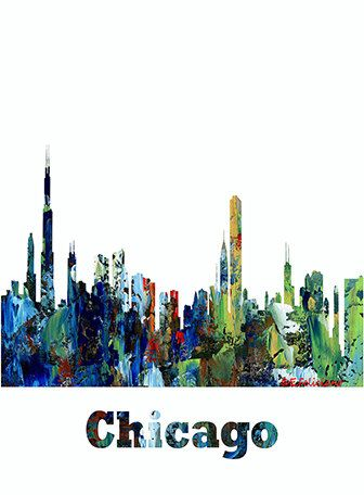chicago skyline art - photo #6