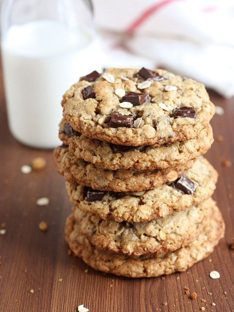 Oatmeal Chocolate Chunk Cookies from completelydelicious.com by ...