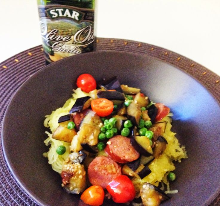 STAR Fine Foods: Low Carb Turkey Sausage and Veggies with Spaghetti Squash