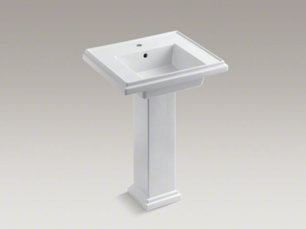 24 Inch Pedestal Sink : ... 2844-1 Tresham 24-Inch Pedestal Sink with Single Faucet Hole