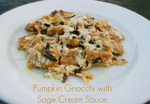 Pumpkin Gnocchi with Sage Cream Sauce (w/ #DairyFree and #GlutenFree ...
