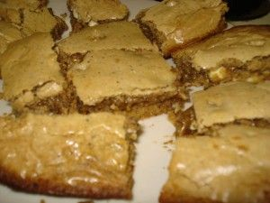 gooey coffee white chocolate chip cookie bars