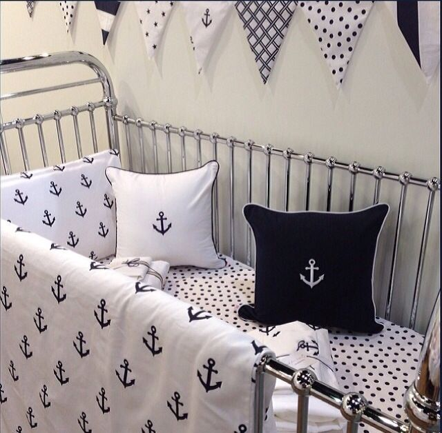 Nautical baby bedding  The future... :)  Pinterest