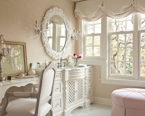 New The Most Popular Styles For Feminine Bathrooms Are Shabby Chic, Vintage, Modern Or Rustic You Can Choose Any Colors But To Create A Girlish Space Prefer White, Offwhites, Pastels Now Lets Have A Look At The Necessary Elements Sinks,