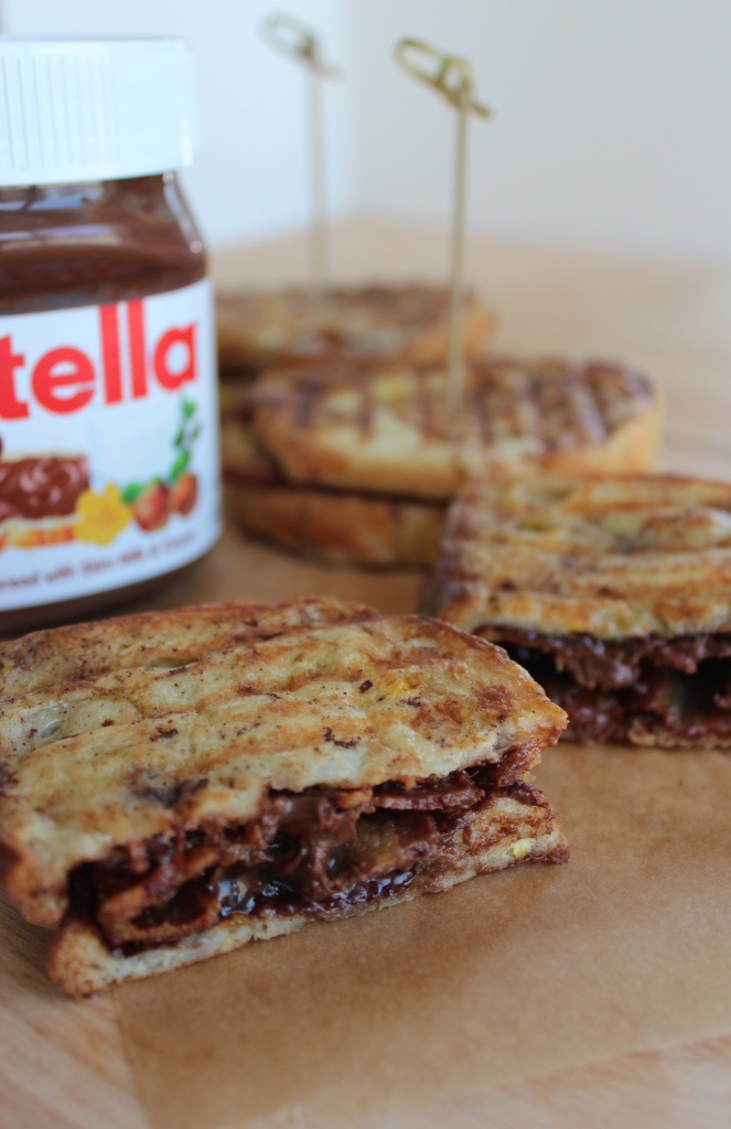 Nutella Bacon French Toast Panini ~ I think I know a couple of guys ...