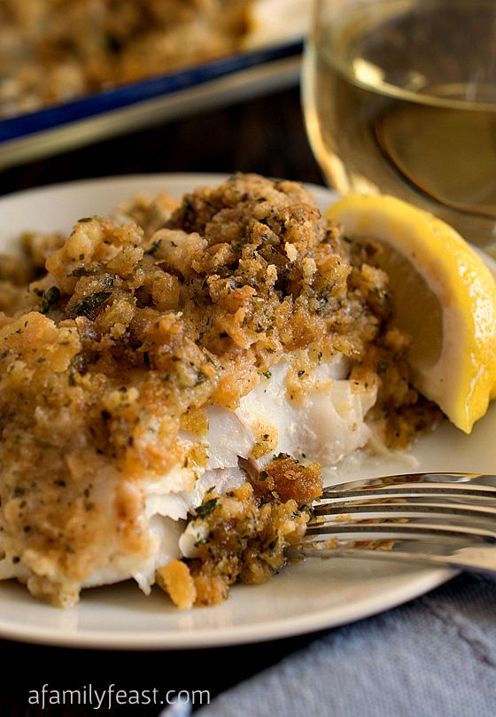 Baked Cod With Ritz Cracker Topping Recipe — Dishmaps