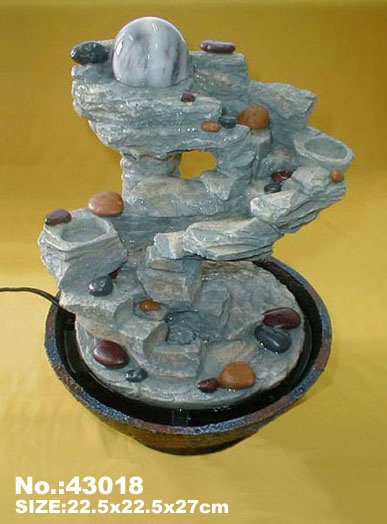 Feng shui water fountain indoor fountains pinterest for Water feature feng shui