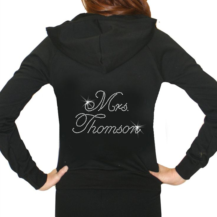 Personalized Crystal Mrs. Hoodie, Customized Hoodie, Personalized