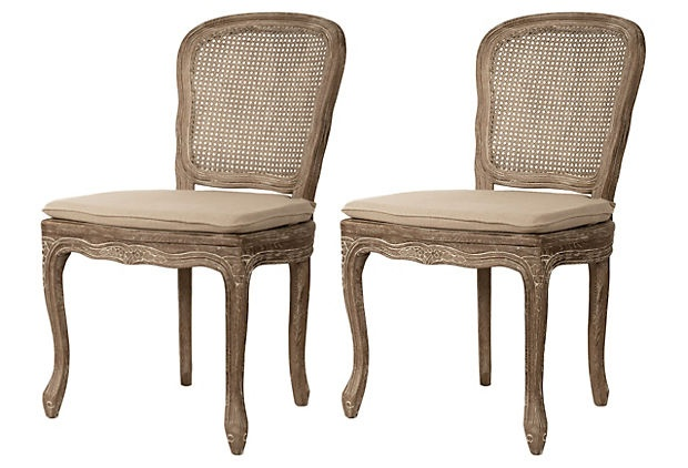 elegantly shaped chairs
