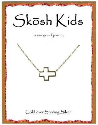Engravables - Kids Open Cross Gold Necklace by Skosh, $32.99 (http