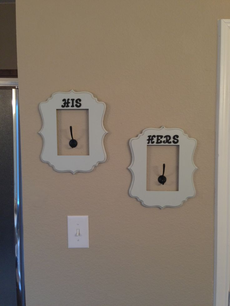 his and hers towel hooks for master bathroom