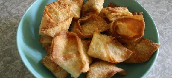 Crispy Fried Tofu Wontons | Veg Friendly Meals & Desserts | Pinterest