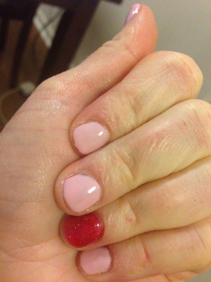 valentine's day gel nails