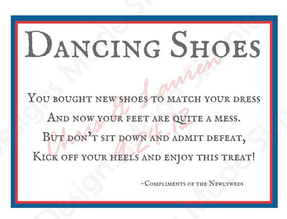 Dancing Shoes Wedding flip flop Sign  by DesignsMadeSimple on Etsy, $6.00