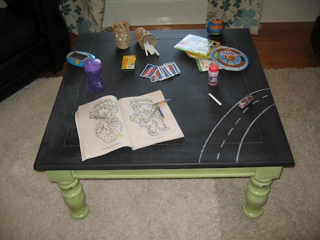 chalkboard coffee table craftastic pinterest