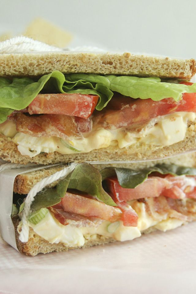 Egg Salad BLTs | SO much food so little time! | Pinterest
