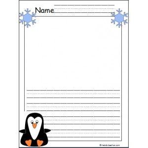 Kindergarten Penguin Writing Paper | January | Pinterest