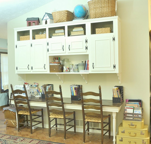 Homeschool Room Like This Desk Setup School Room Ideas Pinterest