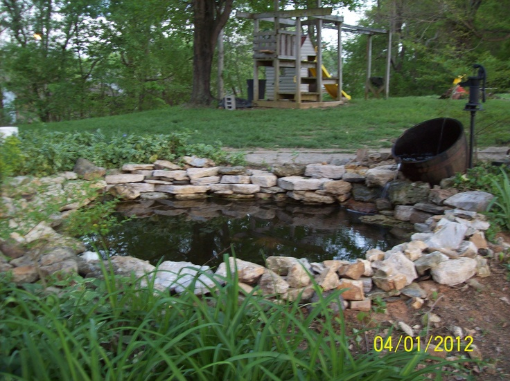 Whiskey Barrel Fountain And Pond Yard Projects Pinterest