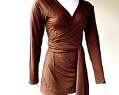 Elegant wrap shirt - organic womens clothes custom made. $69.00, via