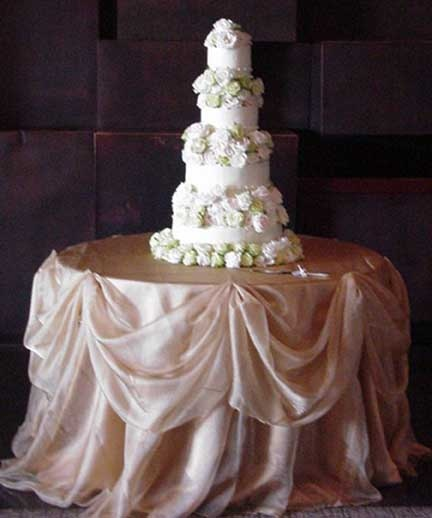 Cake Table Linen Effects Cake Table Pinterest