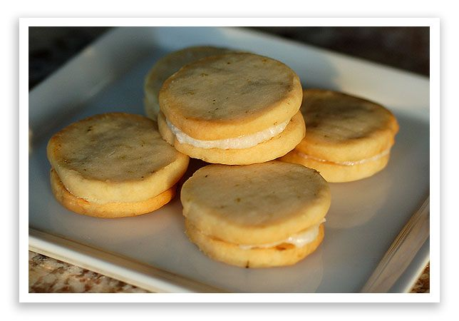 Lime Sandwich Cookies with Coconut Cream Frosting | Recipe