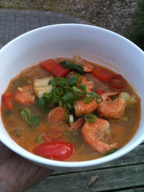 Thai red curry noodle soup | Savor It | Pinterest