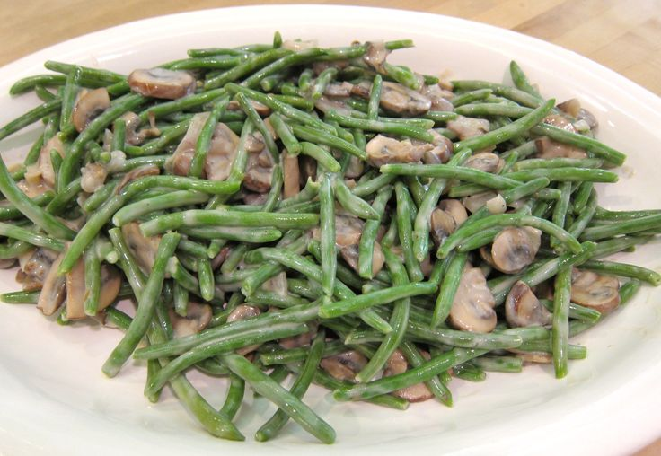 Creamy Green Beans with Shallots and Mushrooms | G-Free Foodie # ...