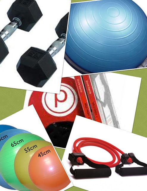 At home fitness equipment and links to workouts