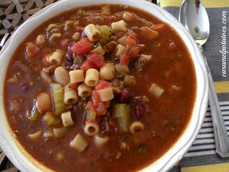 Pasta E. Fagioli Soup - so love this soup from Olive Garden and this ...